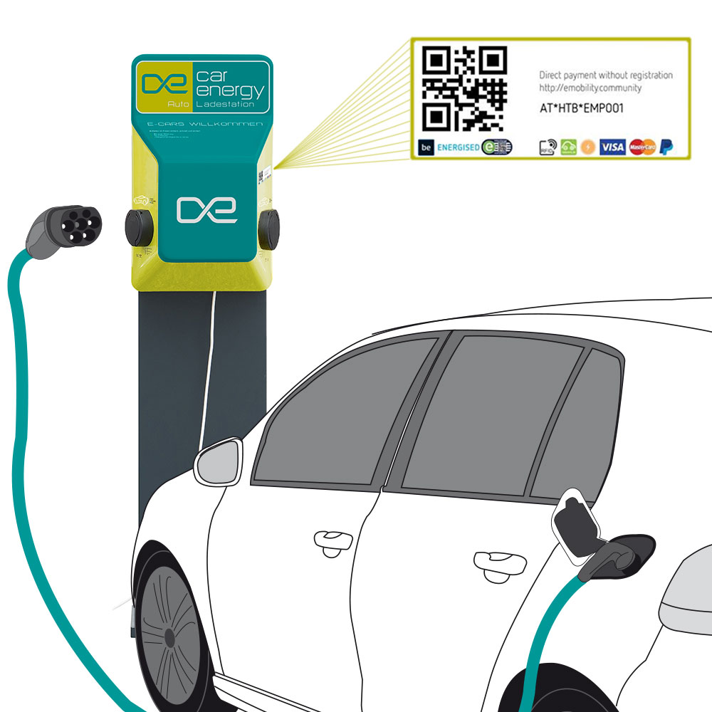 Billing system for charging station E-Cars