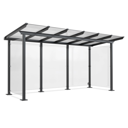 Bicycle shelter aluminum-glass