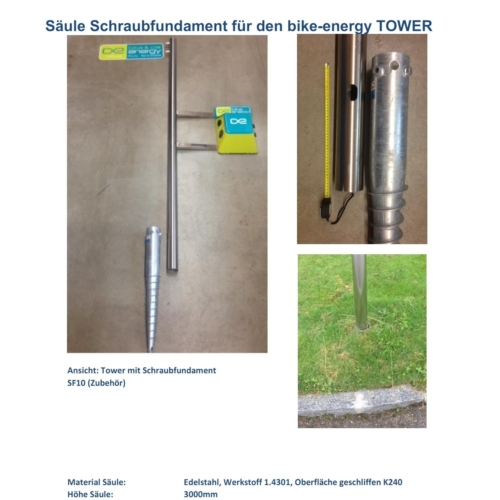 Screw foundation LAdestation TOWER