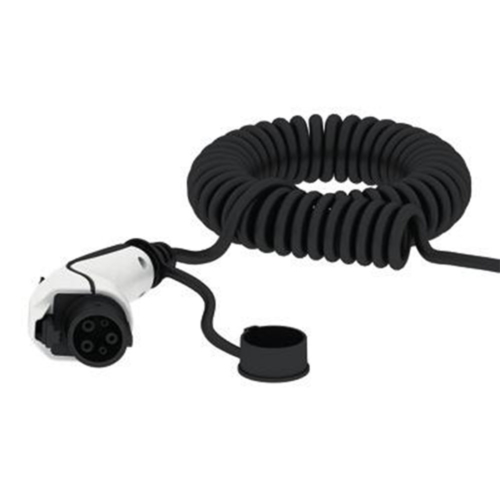 Spiral cable for electric car charging station