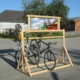 Bicycle rack wood